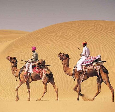 Jaisalmer desert dunes
