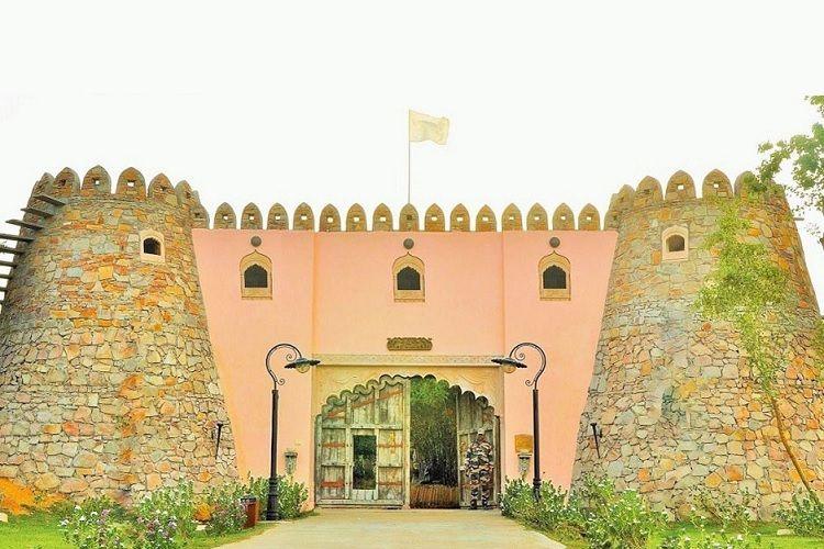 Lohagarh fort resort entrance gate