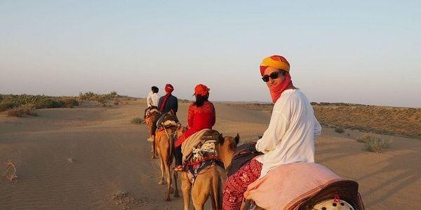 Camel safari with camp