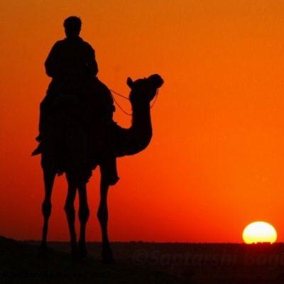 Jaisalmer desert sunset