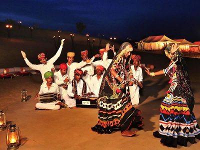 Jaisalmer camp dance show
