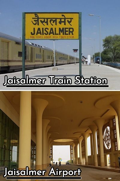 Jaisalmer train station and airport
